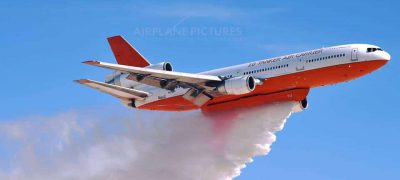 The Spectacular DC 10 Air Tanker Water Drop at Nellis Air-force Base Available in 4K Video