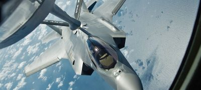 Aerial Refueling F-22 Raptor And F-16's, A Close Up View How Military Plane Are Refueled In Mid Air