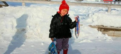Minus 34 Degrees temperature couldn't shake this 4-year old girl from finding help for her sick grandmother
